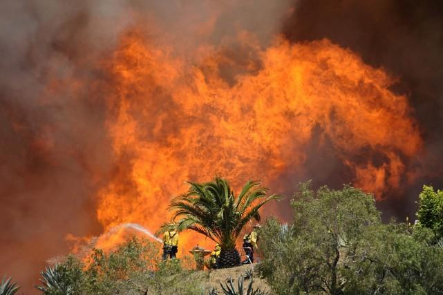 La cause de l'incendie, qui a éclaté mercredi,... (Photo : Gene Blevins, archives Reuters)