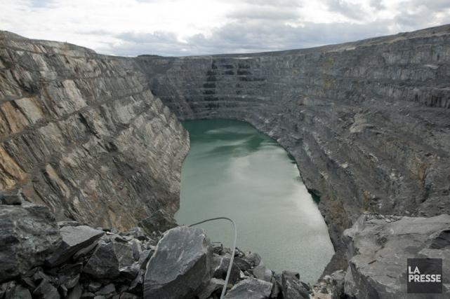 La mine Troïlus, exploitée par la compagnie minière... (Archives La Presse)
