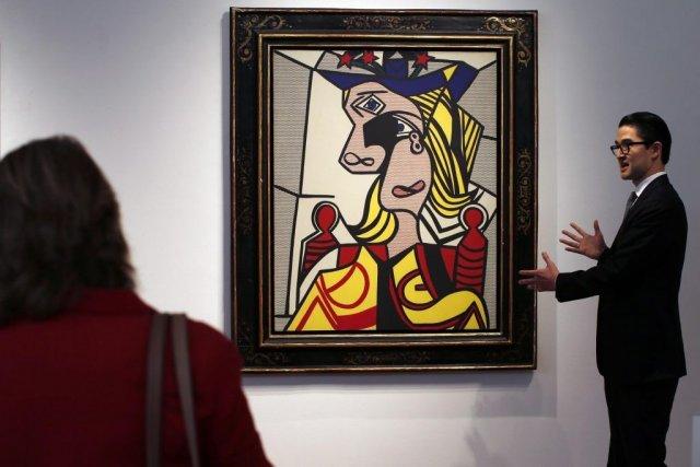Woman with Flowered Hat de Roy Lichtenstein... (MIKE SEGAR)