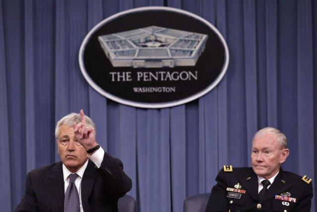 Le secrétaire américain à la Défense Chuck Hagel... (Photo YURI GRIPAS, REUTERS)
