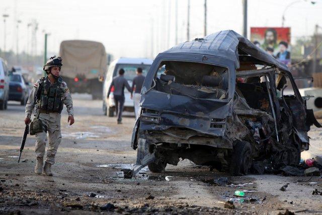 Ces violences surviennent après trois jours consécutifs d'attentats... (Photo : AHMAD AL-RUBAYE, AFP)