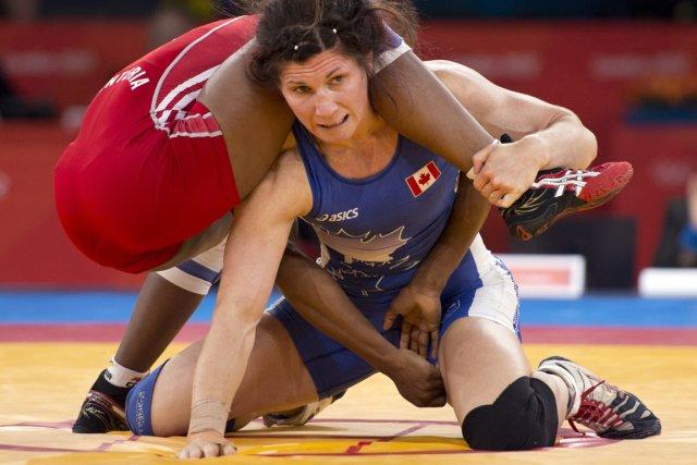 La lutteuse canadienne Tonya Verbeek a remporté la... (Photo : Ryan Remiorz, archives PC)