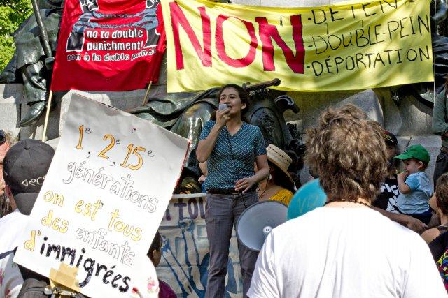 Quelques centaines de manifestants venus des quatre coins de Montréal se sont... (PHOTO OLIVIER JEAN, LA PRESSE)