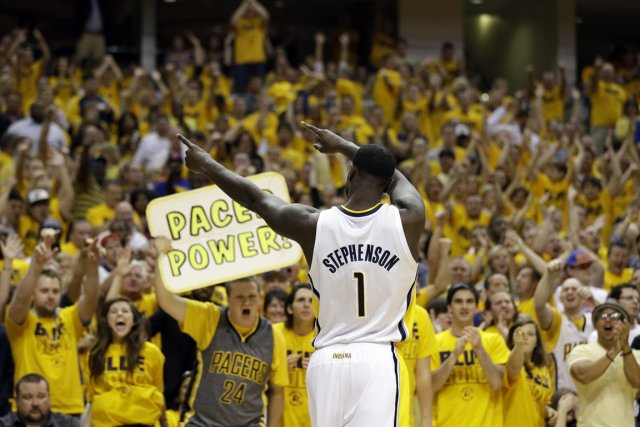 Lance Stephenson, originaire de New York, a marqué... (Photo : Darron Cummings, AP)