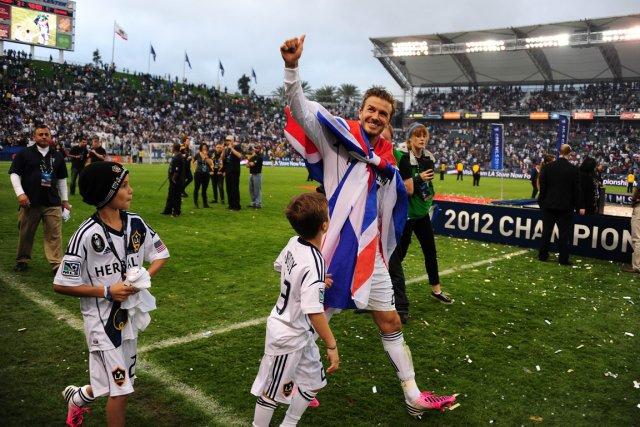 David Beckham après son dernier match avec le... (Photo : archives AFP)