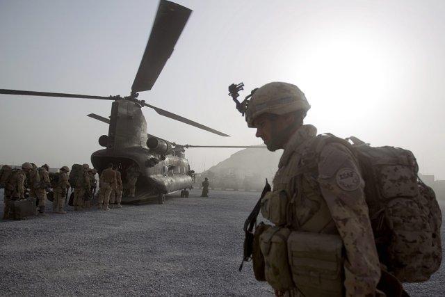 Un soldat canadien en Afghanistan.... (Photo: archives AP)