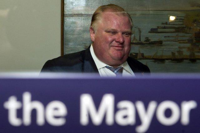 Le maire de Toronto, Rob Ford.... (Photo: PC)