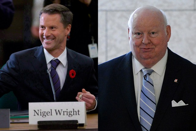 Nigel Wright, ancien dirigeant de la société d'investissements... (Photos Chris Wattie, Reuters et Sean Kilpatrick, PC)