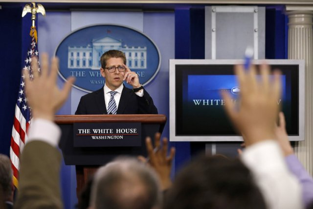 Le porte-parole de Barack Obama, Jay Carney, a... (Photo: Reuters)