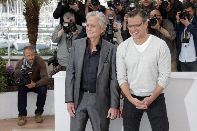 Michael Douglas et Matt Damon, vedettes de Behind... (Photo: AP)