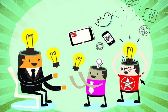 Créative et dynamique, l'industrie des communications regroupe mille et un... (Illustration Marie Roques, La Presse)
