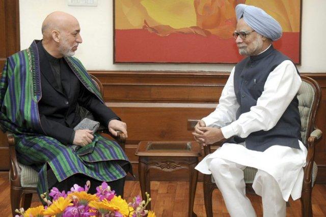 Le président afghan, Hamid Karzaï, a rencontré le... (PHOTO REUTERS)