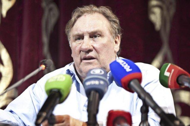 Gérard Depardieu lors d'une conférence de presse au... (Photo: AFP)