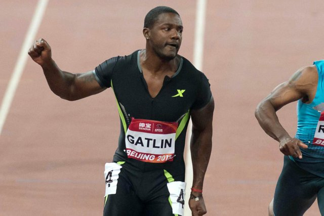 Justin Gatlin... (Photo Ed Jones, AFP)