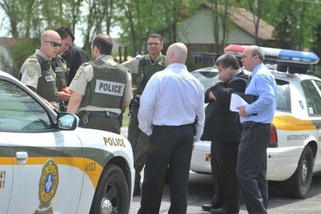 Un homme a tenu les policiers en haleine,... (Photo: Stéphane Lessard)