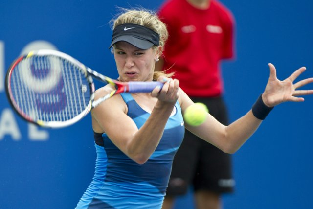 Eugenie Bouchard a remporté son premier match au... (Photo Paul Chiasson, Archives PC)