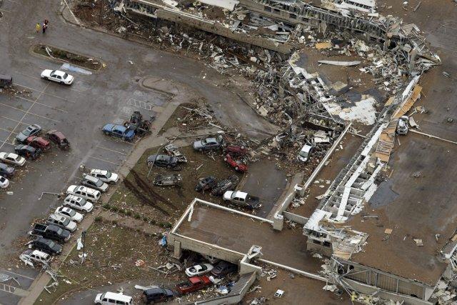 Le centre médical de Moore a été fortement... (Photo Tony Gutierrez, Associated Press)