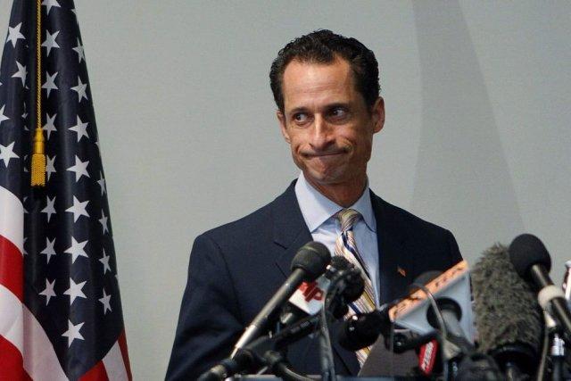 Anthony Weiner, en 2011, lors de sa démission... (Photo Shannon Stapleton, Reuters)