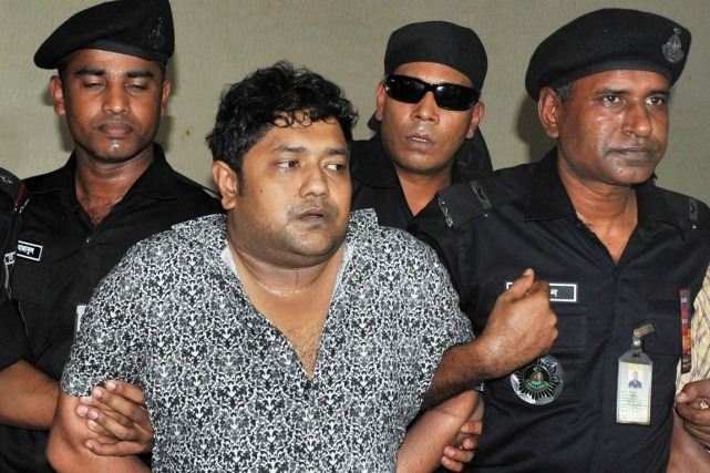 Sohel Rana lors de son arrestation le 28... (PHOTO ARCHIVES REUTERS)