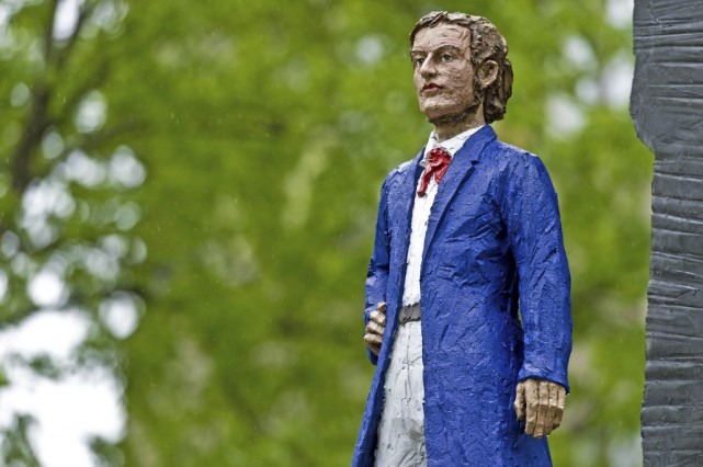 Une sculpture à l'effigie de Richard Wagner.... (Photo: AFP)