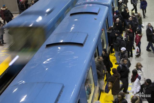 La Société de transport de la Montréal (STM) rapporte une interruption de... (Photo archives La Presse)