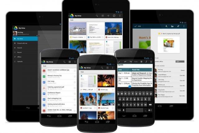 La nouvelle version de Google Drive pour Android... (Photo Google)