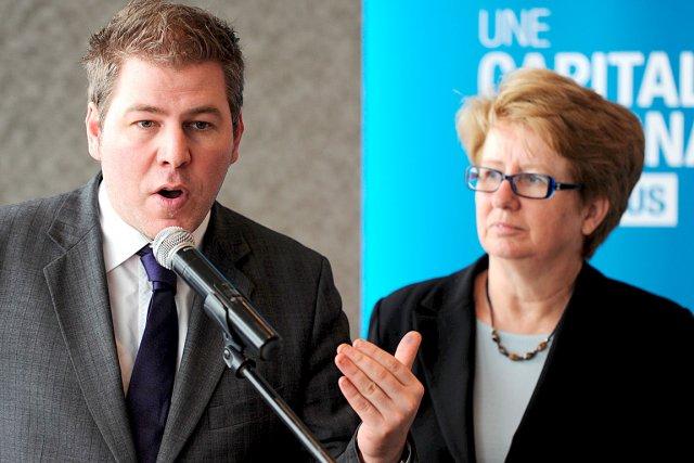 Le ministre délégué au Tourisme, Pascal Bérubé, et... (Le Soleil, Erick Labbé)