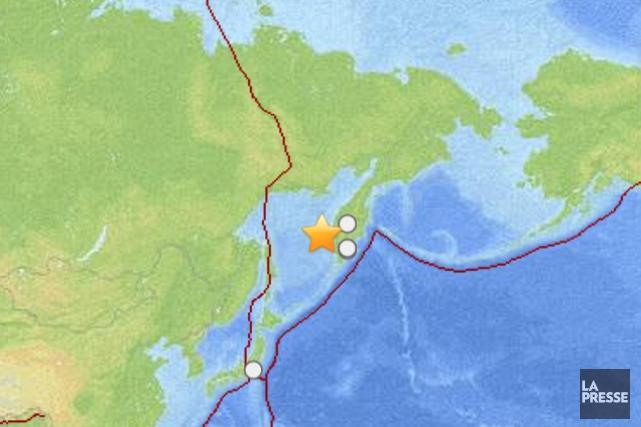 Un violent séisme de magnitude 8,3 en mer d'Okhotsk a provoqué vendredi une... (Carte fournie par USGS)