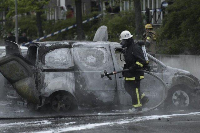 Les émeutes dans les banlieues de la capitale... (PHOTO JONATHAN NACKSTRAND, AFP)