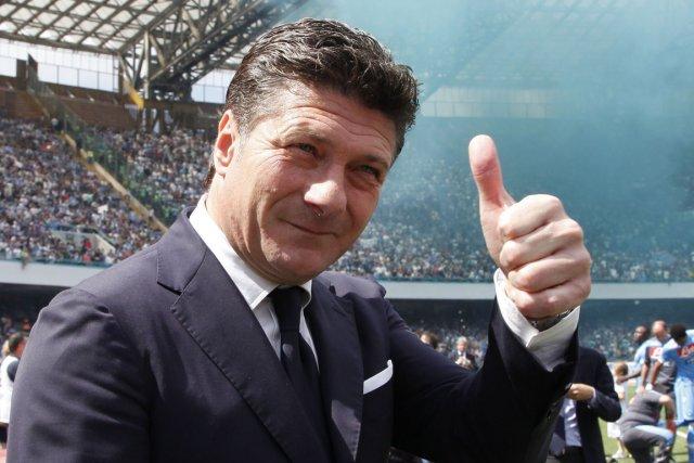 Walter Mazzarri, après quatre saisons réussies à Naples,... (Photo : Carlo Hermann, archives AFP)