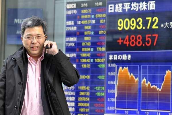 La Bourse de Tokyo accuse le premier coup d'arrêt d'une envolée boursière en... (Photo Archives AFP)