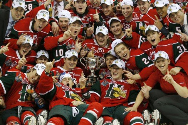 Les Mooseheads de Halifax ont mis la main sur la première Coupe Memorial de... (Photo: Reuters)