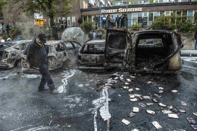La semaine dernière, la Suède a connu ses... (PHOTO SCANPIX SWEDEN)
