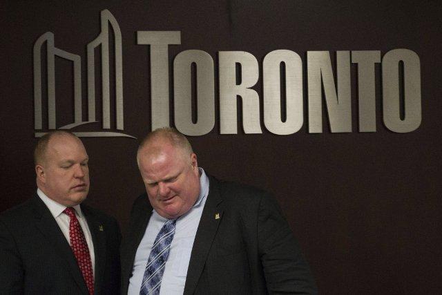 Le maire de Toronto, Rob Ford, a déclaré mardi matin qu'il ne «peut pas faire... (Photo Chris Young, La Presse Canadienne)