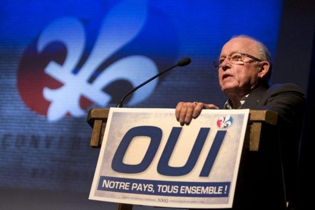 L'ancien premier ministre Bernard Landry, lors du récent... (PHOTO ROBERT SKINNER, LA PRESSE)