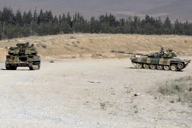 L'armée syrienne, épaulée par le Hezbollah libanais, a... (PHOTO AFP)