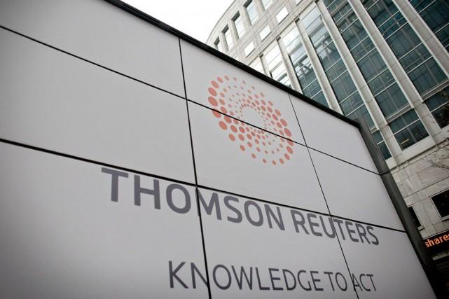 Thomson Reuters (T.TRI) a affiché mercredi un bénéfice... (Photo Shuan Curry, archives AFP)