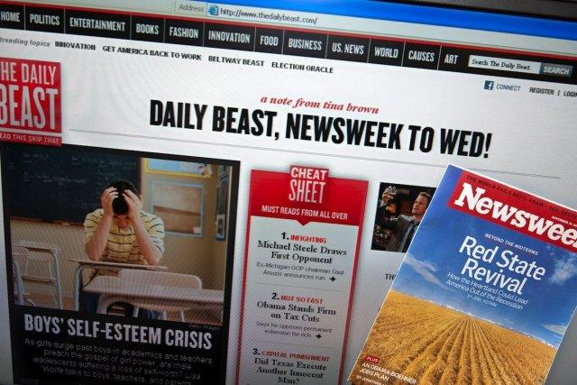 Newsweek avait fusionné avec le site The Daily... (PHOTO Nicholas KAMM, AFP)