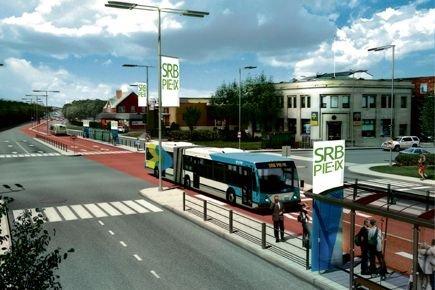 Annoncée en 2009, le service d'autobus rapide (SRB)... (Illustration fournie par l'AMT)