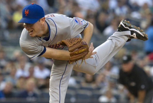 Le lanceur Jeremy Hefner au Yankee Stadium, mercredi.... (RAY STUBBLEBINE)