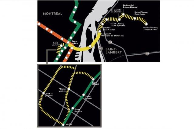 Le prolongement de la ligne jaune....