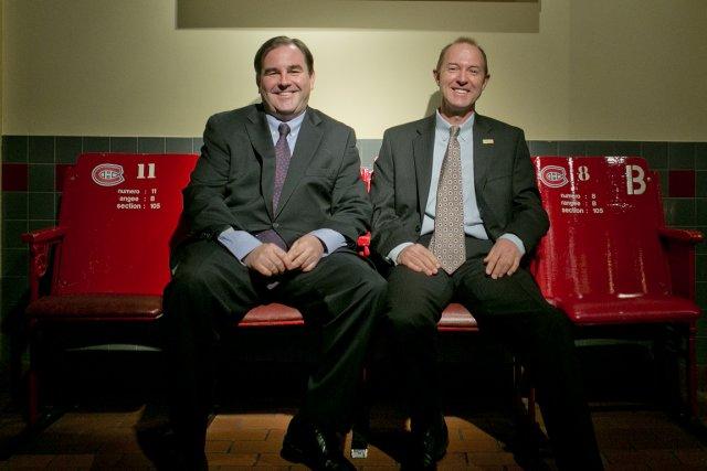 AndrewMolson, président sortant du conseil deMolsonCoors, et Stewart... (PHOTO MARCO CAMPANOZZI, LA PRESSE)