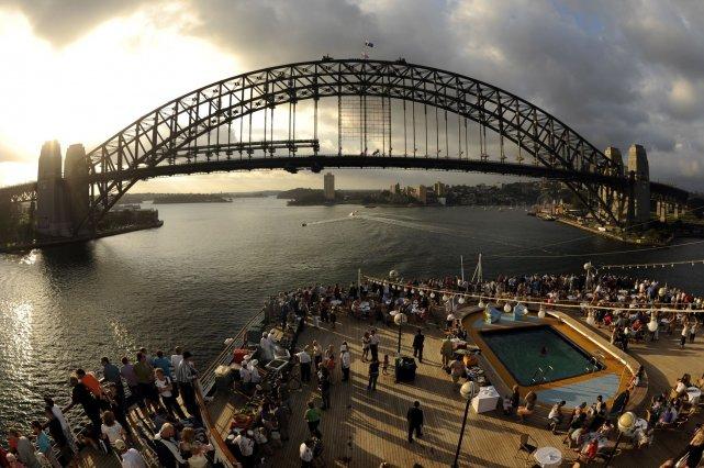 Vue sur le pont de Sydney.... (Photo Bernard Brault, Archives La Presse)
