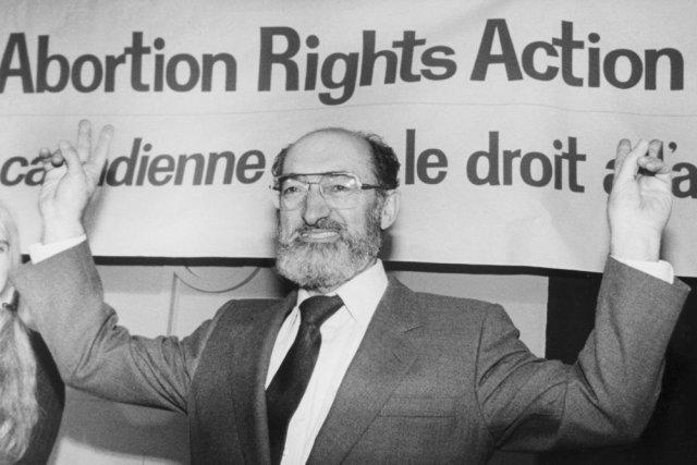 Le Dr Henry Morgentaler, lors d'une conférence de... (Photo Blaise Edwards, La Presse canadienne)