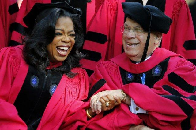 Oprah Winfrey en compagnie du maire de Boston,... (Photo: Reuters)