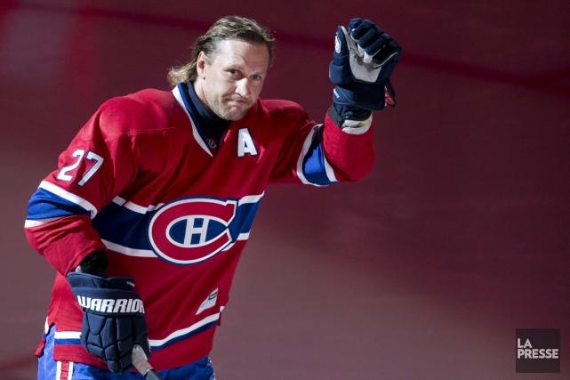 L'ancien joueur des Canadiens Alex Kovalev au Centre... (Photo Robert Skinner, La Presse)