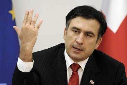 Le président géorgien Mikheïl Saakachvili.... (Photo AFP)