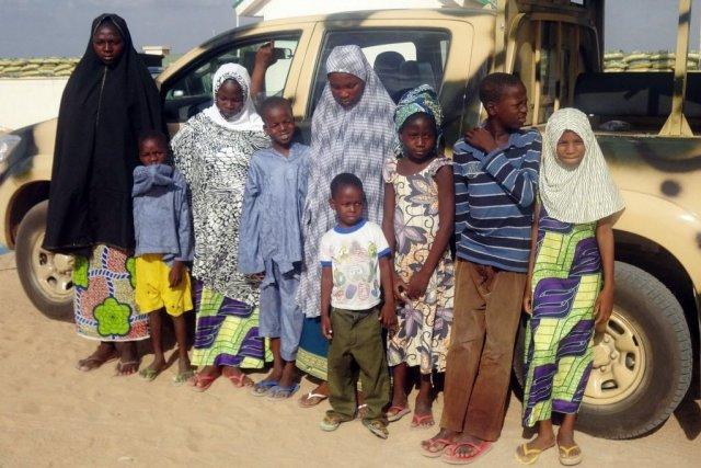 L'armée avait justifié l'arrestation d'enfants par leur implication... (PHOTO AMINU ABUBAKAR, AFP)