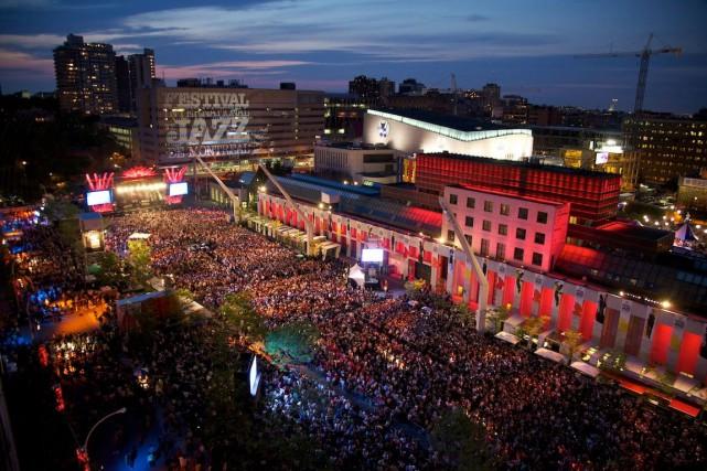 La Place des festivals.... (PHOTO D'ARCHIVES FOURNIE PAR TOURISME MONTRÉAL)