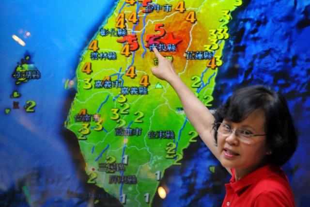 L'épicentre du tremblement de terre de magnitude 6,3... (Photo : Mandy Cheng, AFP)